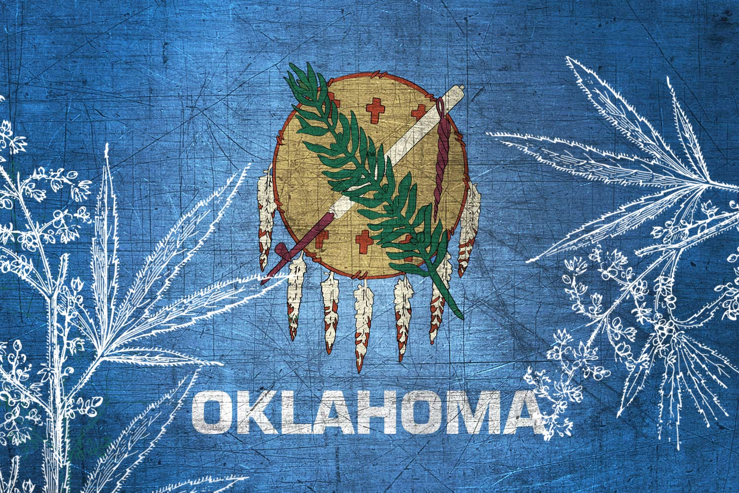 Oklahoma-Flag-US-State-Metal-XL