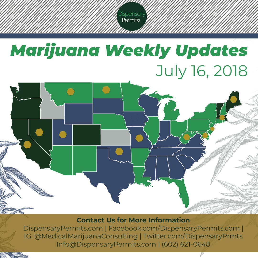 July 16th Marijuana Weekly Updates: States to Watch for Marijuana Legalization