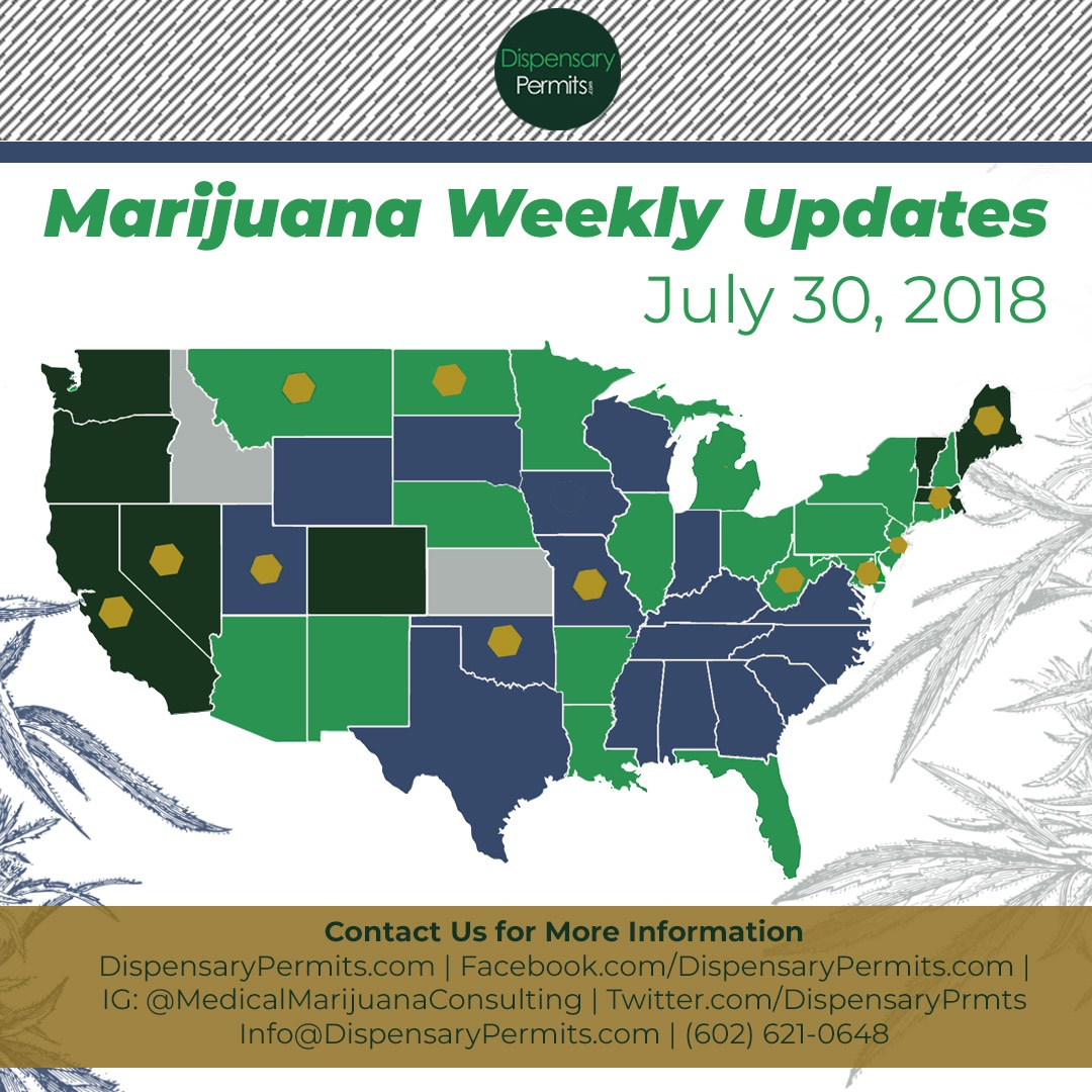 July 30th Marijuana Weekly Updates: States to Watch for Marijuana Legalization