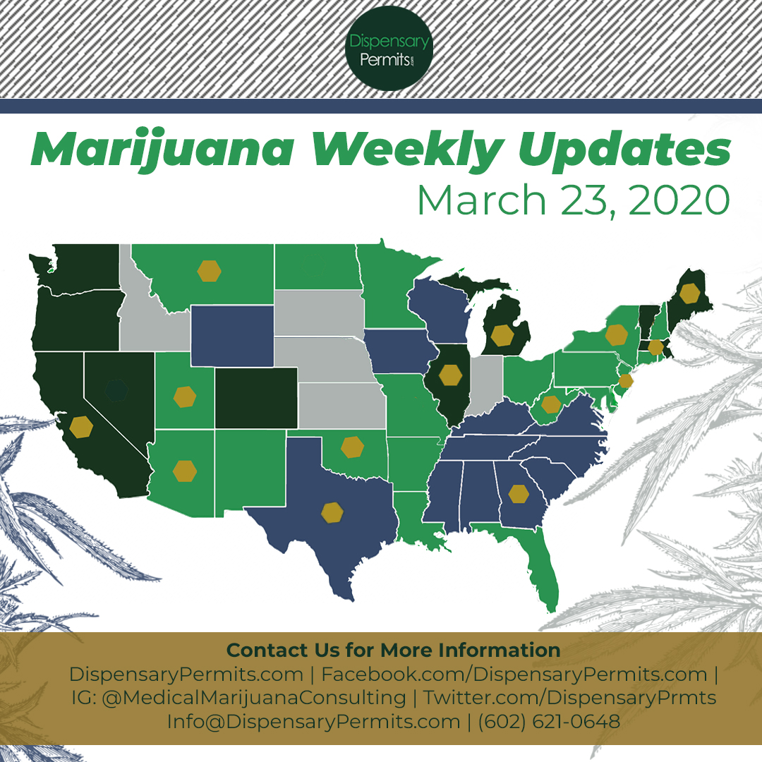 March 23, 2020 Marijuana Weekly Updates: States to Watch for Marijuana Legalization