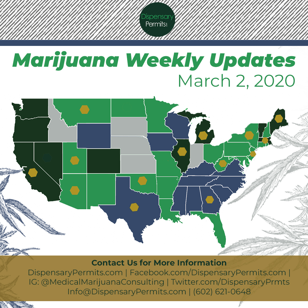 March 2, 2020 Marijuana Weekly Updates: States to Watch for Marijuana Legalization