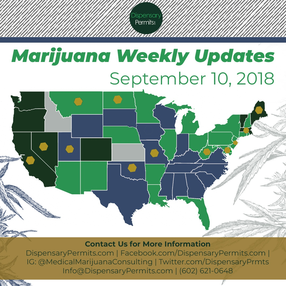 September 10th Marijuana Weekly Updates: States to Watch for Marijuana Legalization